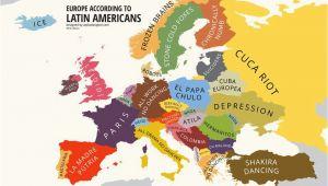 1980 Map Of Europe Europe According to Latin Americans Yanko Tsvetkov S