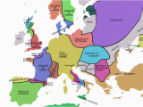 1990 Map Of Europe atlas Of European History Wikimedia Commons
