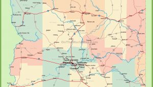 A Map Of Arizona Cities Arizona Road Map with Cities and towns