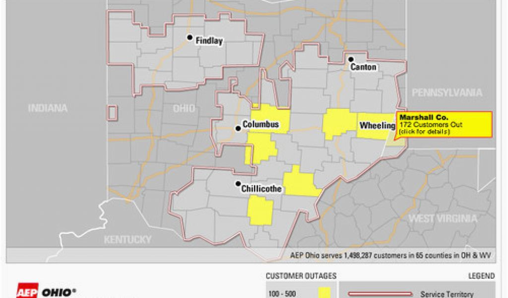 Aep power outages map