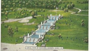 Aerial Maps Michigan Aerial View Cascades Jackson Mi Michigan Postcard In 2019 Historic