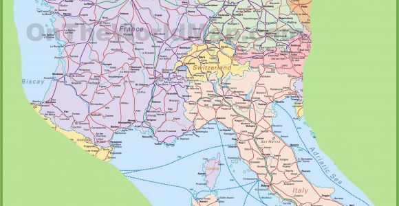 Airports In northern Italy On Map Map Of Switzerland Italy Germany and France