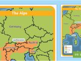 Alps Map Of Europe the Alps Map Habitat Mountain Climate Animals Europe