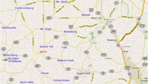 Amish Country Map Ohio Ohio Amish Country Map