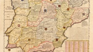 Ancient Map Of Spain French Map Of Spain and Portugal Early 18th Century Inspirational