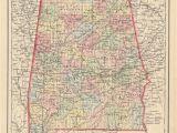 Antique Map Of Alabama 1855 Alabama Hjbmaps Com Harlan J Berk Ltd Antique Map Dealer