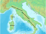 Apennines Italy Map Apennine Muntains Wikipedia