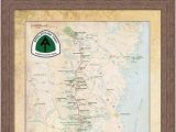 Appalachian Trail In Tennessee Map Appalachian Trail Map Etsy