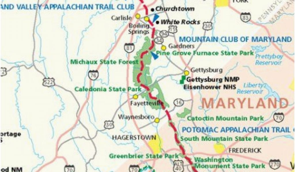 Appalachian Trail Tennessee Map Georgia Appalachian Trail ...