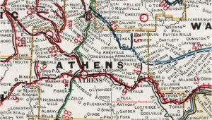 Athens County Ohio Map athens County Ohio 1901 Map Albany Nelsonville Oh