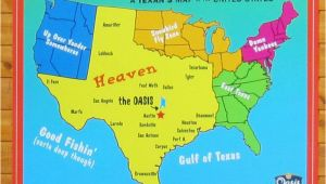 Austin Texas Map Usa A Texan S Map Of the United States Featuring the Oasis Restaurant