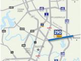 Austin Texas toll Road Map 290 toll Road