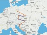 Backpacking Europe Map Gateway to Eastern Europe Itinerary Travel Time 2 4 Weeks