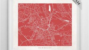 Barnsley England Map Barnsley Map England Print Barnsley Poster England Art