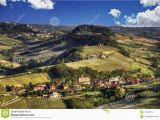 Barolo Region Italy Map Panorama Of the Langhe Barolo and Monforte D Alba Stock Image