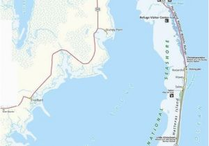 Beaches In north Carolina Map Map Of the Outer Banks Including Hatteras and Ocracoke islands