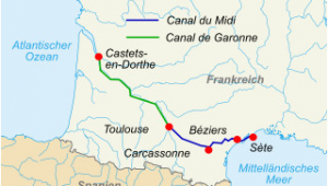 Bezier France Map Canal Du Midi Wikipedia
