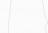 Blank Map Of Alabama Blank Map Of Alabama