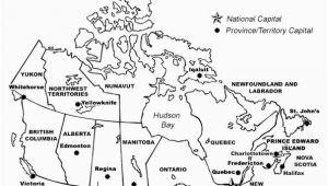 Blank Map Of Canada to Label Provinces and Capitals Printable Map Of Canada with Provinces and Territories and