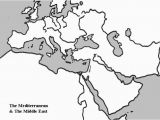 Blank Map Of Europe and Middle East 36 Intelligible Blank Map Of Europe and Mediterranean