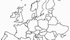 Blank Map Of Europe Worksheet Blank Map Of Europe Printable Outline Map Of Europe