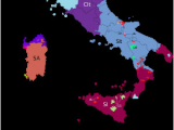 Blank Map Of Italy with Regions Languages Of Italy Wikipedia