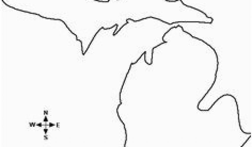 Blank Map Of Michigan 10 Best Map Of Michigan Images Map Of