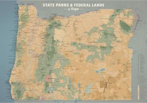 Blm Land Map oregon oregon State Parks Federal Lands Map 24×36 Poster Best Maps Ever