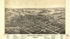 Bowling Green Ohio Map Ohio Vintage Panoramic Maps Collection On Cd Ebay