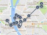 Budapest Europe Map Best Of Budapest Hungary Sightseeing Walking tour Map and