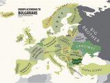 Bulgaria On Europe Map Europe According to Bulgaria Print Euro asian Maps Funny