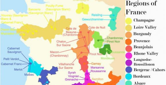 Burgundy Region Of France Map French Wine Growing Regions and An Outline Of the Wines Produced In
