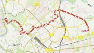 Bus Map Rome Italy Linie 61 Fahrplane Haltestelle Karten Balsamo Crivelli