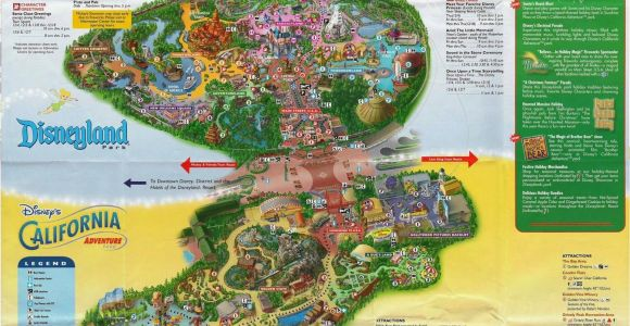 California Adventures Map Awesome Printable Map Disneyland California New California