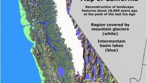 California Crops Map California Glaciation Ice Age Coastal Maps Pinterest