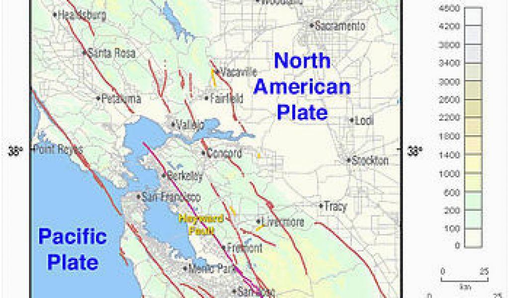 California Earthquake Prediction Map Hayward Fault Zone