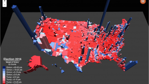 California Election Results Map Election Results In the Third Dimension Metrocosm