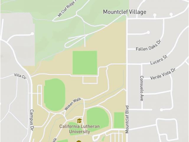 California Lutheran University Campus Map.California Lutheran University Campus Map Cal Lutheran Map