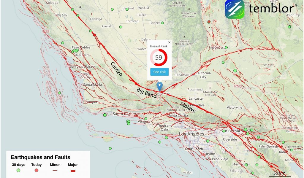 California Seismic Zone Map United States Fault Line Map