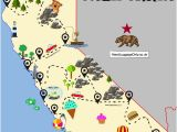California State Campgrounds Map the Ultimate Road Trip Map Of Places to Visit In California Travel
