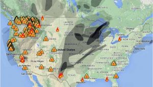 California Wildfires 2014 Map Wildfire Smoke Map August 31 2015 Wildfire today