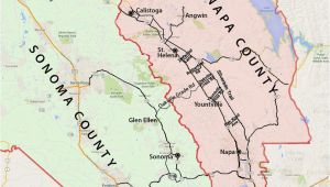 California Wine areas Map Wine Country Map sonoma and Napa Valley