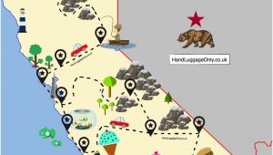 Campsites In California Map the Ultimate Road Trip Map Of Places to Visit In California Travel