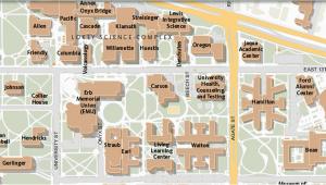 Campus Map University Of oregon Maps University Of oregon