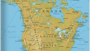 Canada America Border Map the Map Shows the States Of north America Canada Usa and Mexico