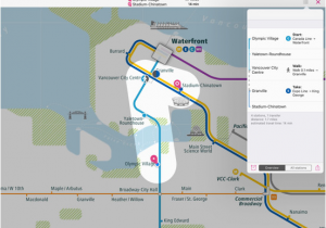 Canada Line Station Map Vancouver Rail Map Lite App Price Drops