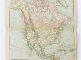 Canada Map Office Antique Map Of north America Vintage Map Of United States