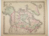 Canada Map Office Dominion Of Canada Map 1881 Colton Map Historical Map Of