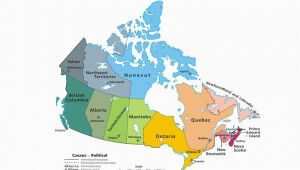 Canada Map with Capital Cities and Provinces Canadian Provinces and the Confederation