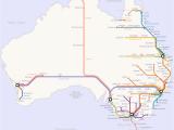 Canada Rail Network Map Australian Rail Map
